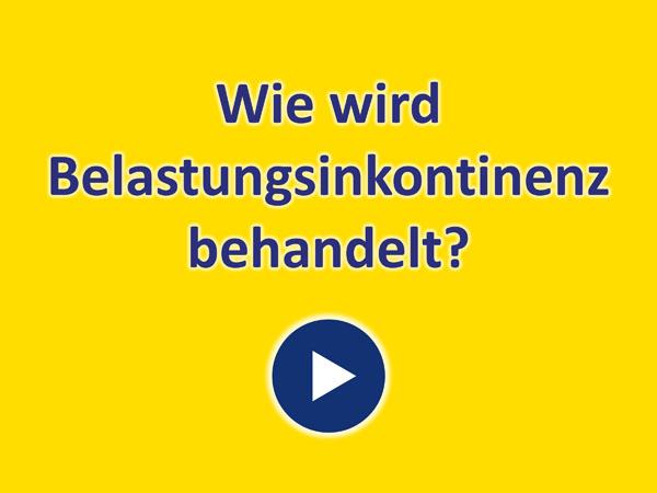 """Zum Video """"Wie wird Belastungsinkontinenz behandelt?"""""""